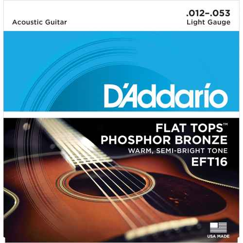 D´addario EFT16 Flat Tops Phosphor Bronze Regular [12 53]